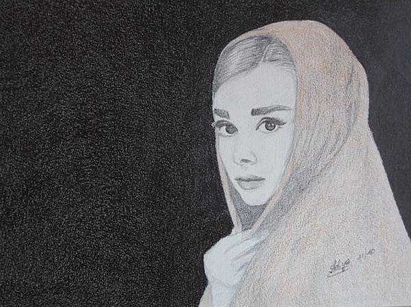 Audrey Hepburn by Adiya